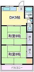 大阪府大阪市住吉区苅田7丁目の賃貸マンションの間取り