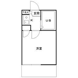 カミーノ豪徳寺[102号室]の間取り