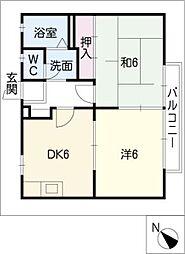ビーラインK・M[2階]の間取り