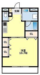 愛知県豊田市広川町8丁目の賃貸マンションの間取り