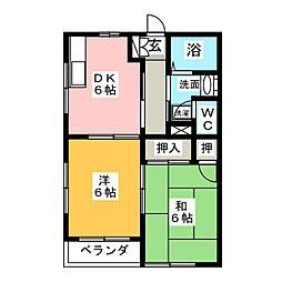 シェソワ[2階]の間取り