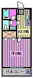 カオルハイツI[206号室]の間取り