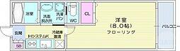アリュール北仙台 2階1Kの間取り