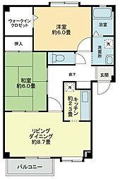 フォブール西須賀[203号室]の間取り
