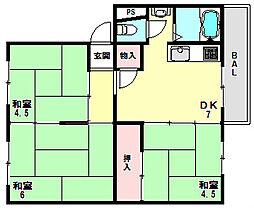 明舞北住宅[312号室]の間取り