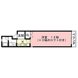 タウンハイツ熊田[2階]の間取り