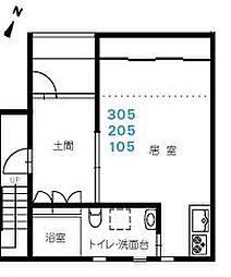 広島県東広島市三永3丁目の賃貸マンションの間取り