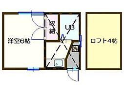 シャルマンハウス石田1番館[1階]の間取り