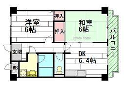 イクシー元町[3階]の間取り
