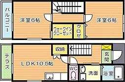 Cocotte青山(ココット青山)II棟[2階]の間取り