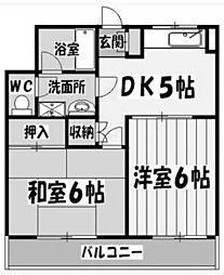 埼玉県さいたま市大宮区三橋4の賃貸マンションの間取り