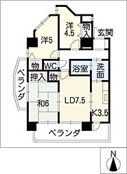 エクセル21[4階]の間取り