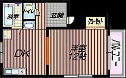 桜マンション[20A号室]の間取り