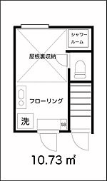 東京都大田区田園調布南の賃貸アパートの間取り
