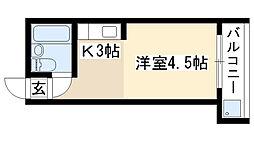 愛知県名古屋市昭和区福原町2丁目の賃貸マンションの間取り