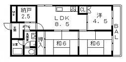 八尾本町大発マンション[208号室号室]の間取り