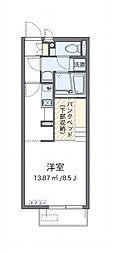西武池袋線 秋津駅 徒歩15分の賃貸アパート 1階ワンルームの間取り