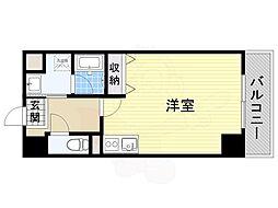JR東海道・山陽本線 摂津富田駅 徒歩4分の賃貸マンション 6階ワンルームの間取り