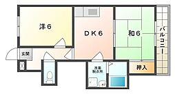 エスシーハイツ[4階]の間取り