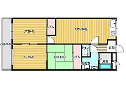 エコーハイツ2[4階]の間取り