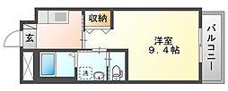 岡山電気軌道清輝橋線 清輝橋駅 徒歩35分の賃貸マンション 3階1Kの間取り
