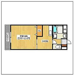 スターリーKT[3階]の間取り