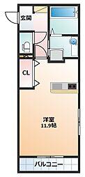 中川原アパート[107号室]の間取り