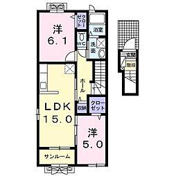 クレメントブリーズ II[2階]の間取り