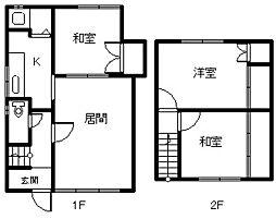 旭町1−15 メゾネット住宅[1号室]の間取り