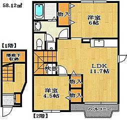 プライムコート[2階]の間取り