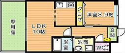スマートピアーK[1階]の間取り