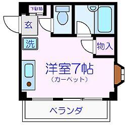 第一荒井マンション[301号室]の間取り