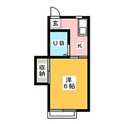 Pastel House[2階]の間取り