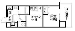 アクアプレイス京都洛南II[6階]の間取り
