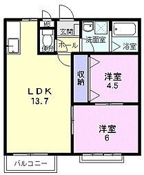 クリアヴィレッジA[2階]の間取り