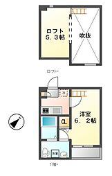 pavillon honnte biwajima(パビユウネッツ ビワジマ)[1階]の間取り