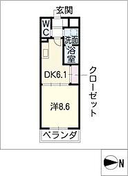 Dimus白川公園[3階]の間取り