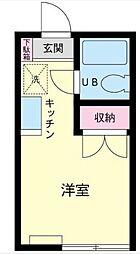 東京都台東区谷中7丁目の賃貸アパートの間取り