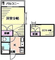 サンビレッジ[2階]の間取り