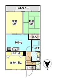 ビックベアー7[1階]の間取り
