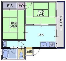 松本マンション[2階]の間取り