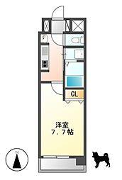 クレジデンス黒川[5階]の間取り