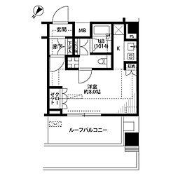 プレール・ドゥーク品川西大井[4階]の間取り