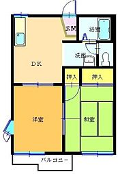 神奈川県横浜市泉区緑園3丁目の賃貸アパートの間取り