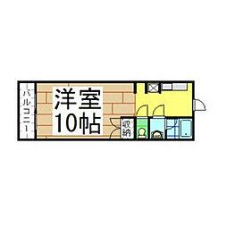 福岡県北九州市八幡西区穴生1丁目の賃貸アパートの間取り