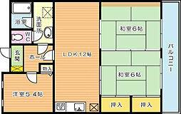 エクレール穴生(分譲賃貸)[4階]の間取り