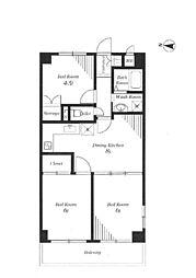 西新小岩3丁目マンション[4階号室]の間取り