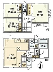 [一戸建] 神奈川県藤沢市高倉 の賃貸【/】の間取り