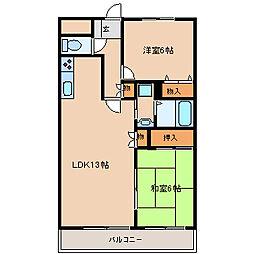 ラディエ南武庫之荘2[3階]の間取り