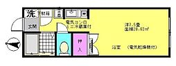 神奈川県横浜市神奈川区松見町2丁目の賃貸アパートの間取り